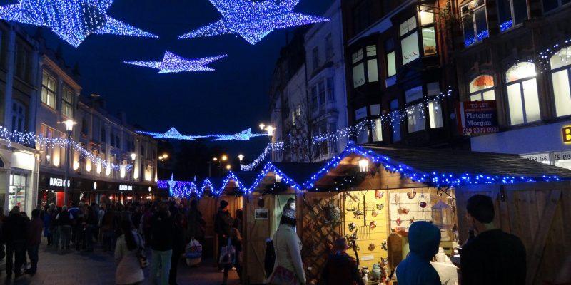 cardiff christmas market how many stalls