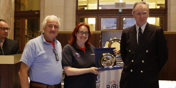 Trustees of Challenge Wales picking up trophy at Sail Training International Conference